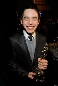 David Archuleta a little too not over winning the Year in Music Rising Male Star Award at the 2009 Almas.