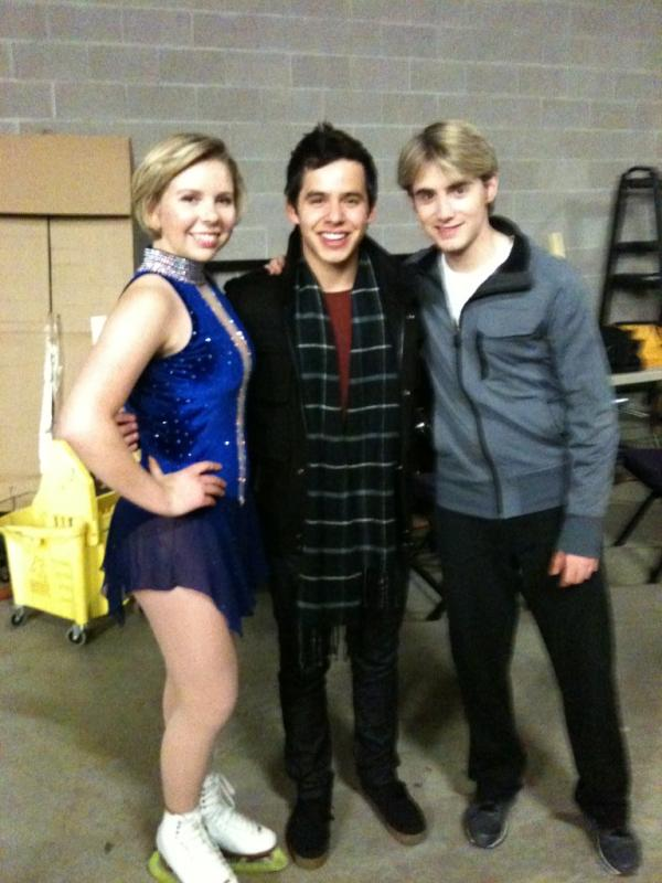 David Archuleta with Rachael Flatt and Douglas Razzano