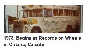 records on wheels