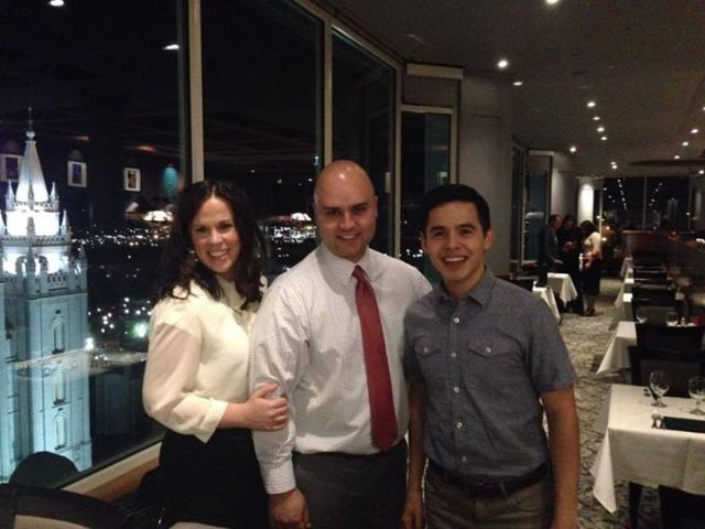 "From: Daniel N Erica Souza: ""Dinner with David Archuleta. What a class act."" — at The Roof Restaurant"