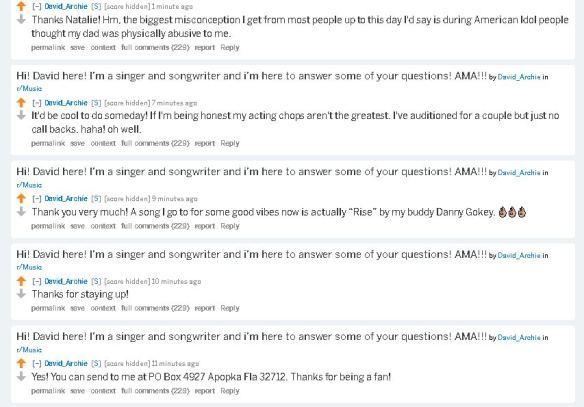 Reddit | SnowAngelz: Canadian fans of David Archuleta
